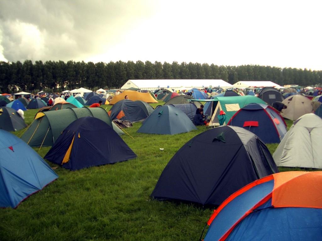 Kamperen in tent